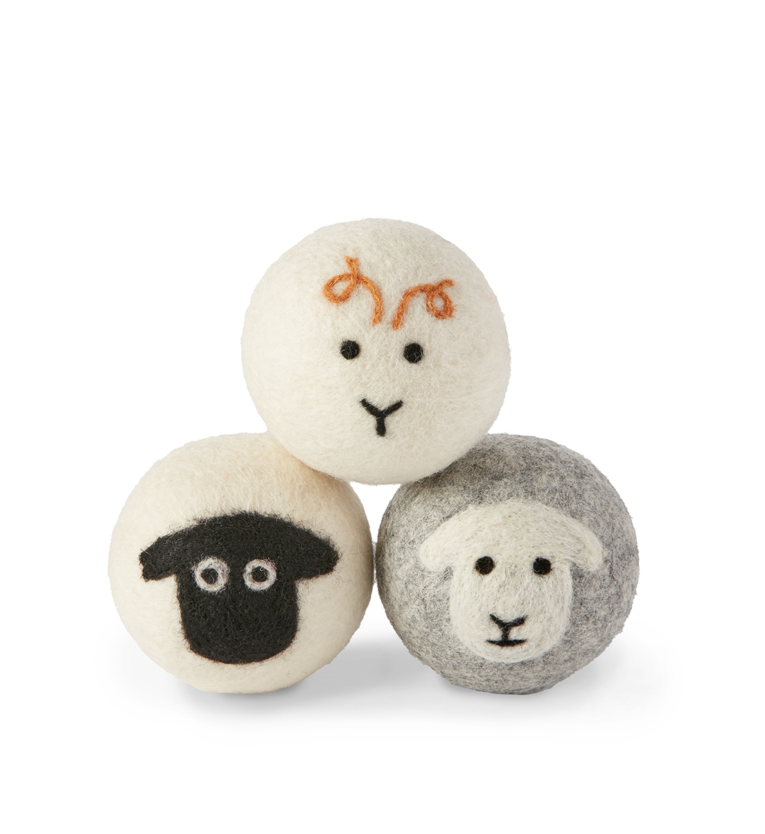 Fluff and Tumble Dryer Balls with Sheep Design