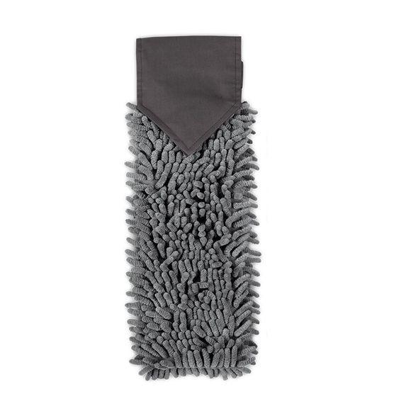 Chenille Hand Towel, graphite