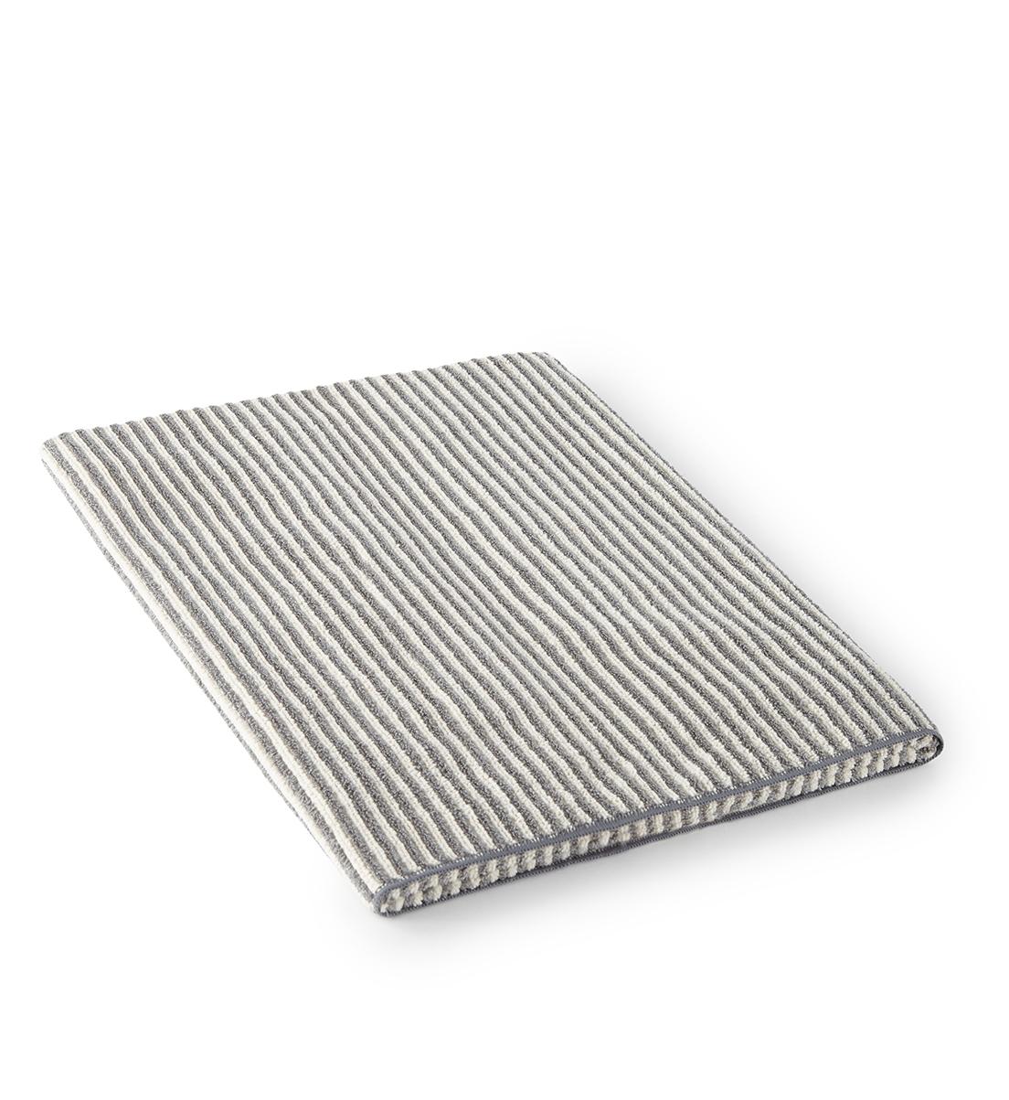 Bath Towel, striped graphite/vanilla