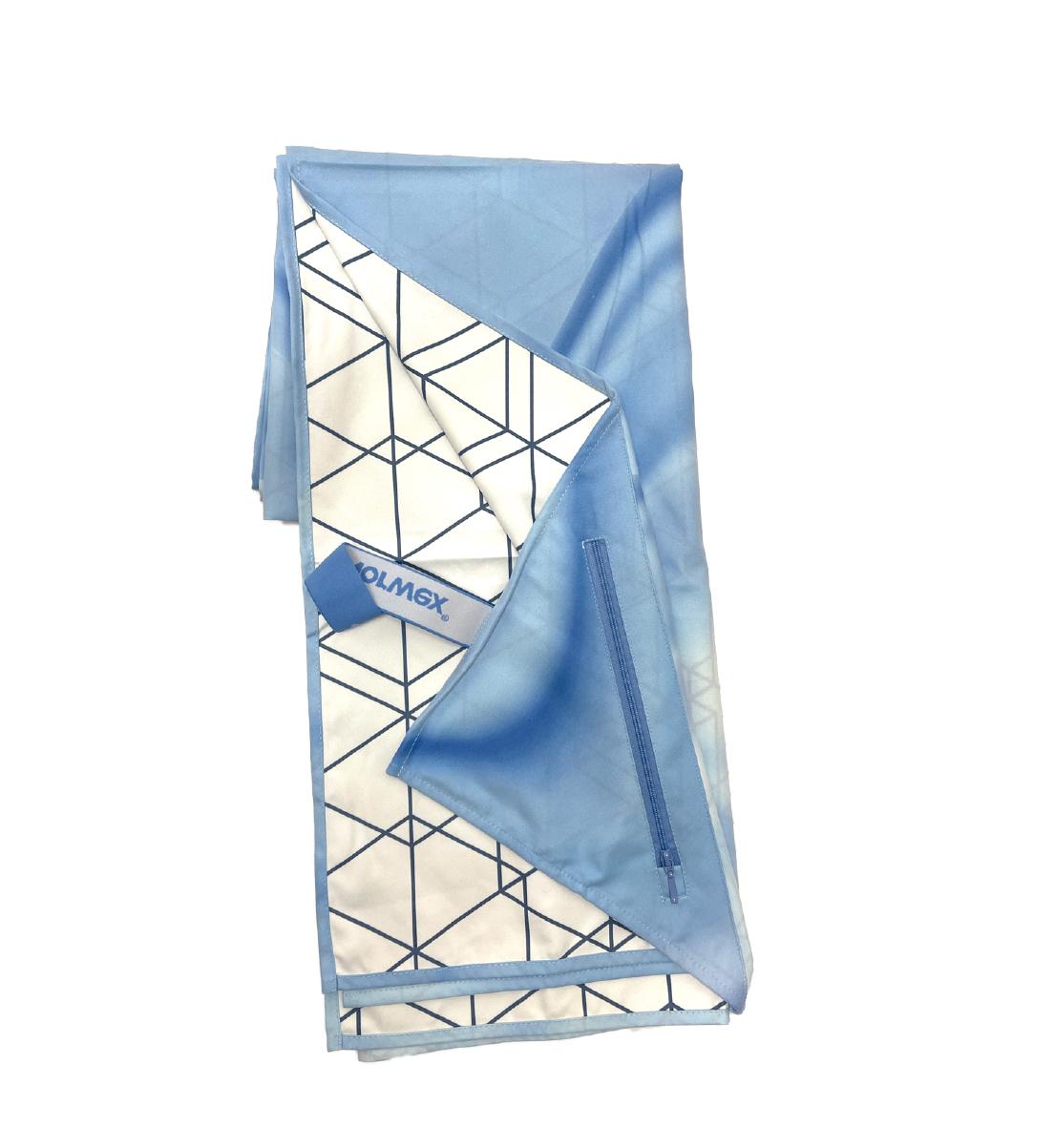 Suede Beach Towel, geo print