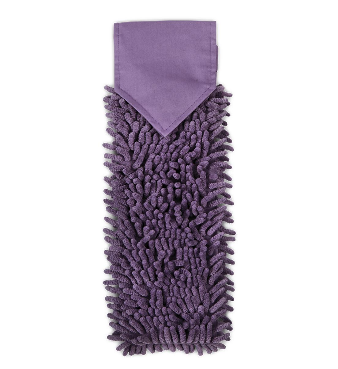 Chenille Hand Towel, eggplant