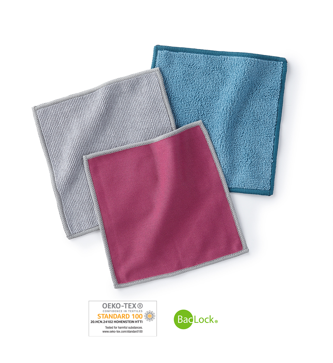 Mini Microfibre Variety Pack, graphite/teal/plum with graphite trim