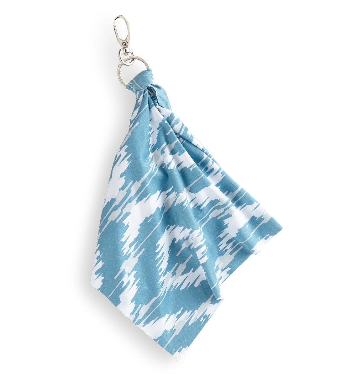 Optic Scarf, blue ikat