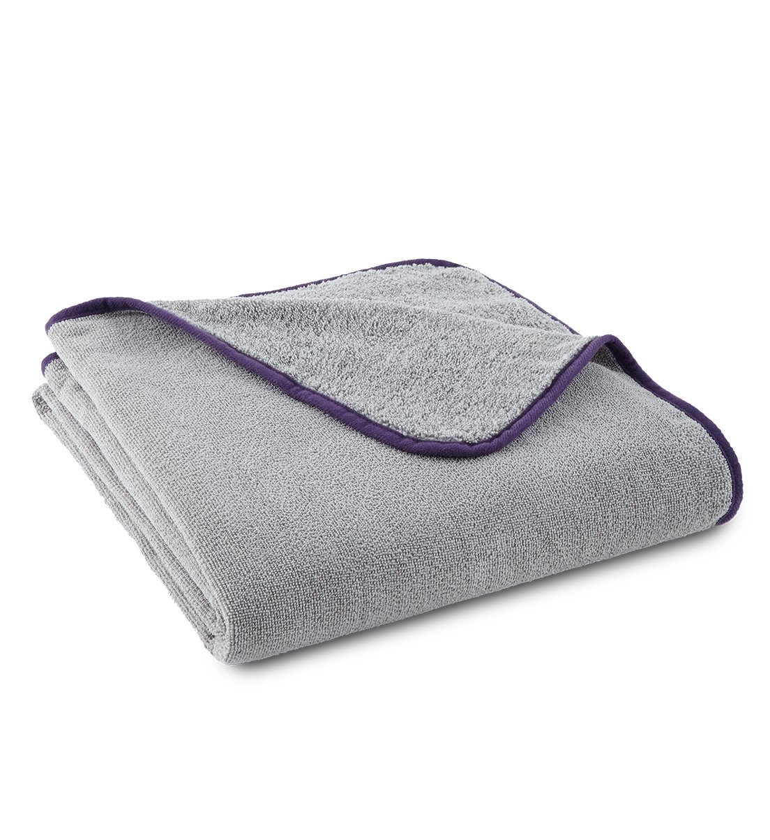Limited Edition Ultra-Plush Bath Towel, graphite/purple