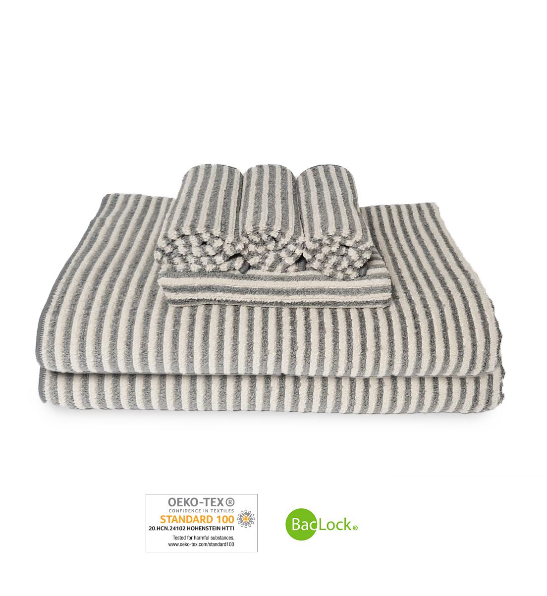 Towel Set, graphite/vanilla